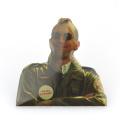 Prenda de ropa de metal prenda de seguridad broche en forma de hombre pajarita hombres trajes pin de solapa