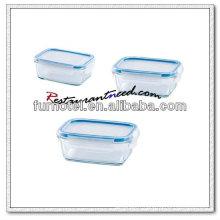D217 Récipient alimentaire en verre rectangle