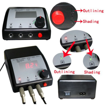Plano doble LCD tatuaje fuente de alimentación para máquina de tatuaje