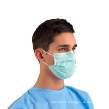 Máscara protetora cirúrgica descartável estéril médica de 3 dobras