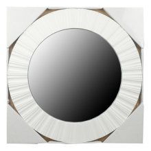 Runder PP Spritzguss Kunststoff Spiegel Frame 51x51x2.2cm