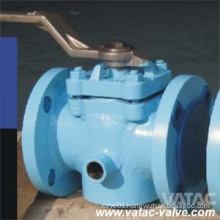 Cast Steel RF Flanged Sleeved Plug Valve with Lever Operated