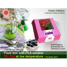 Cajas de empaquetado de alimentos de cartón con ventana anti-rana