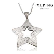 32675 moda estrelas de cinco pontas esmaltado aço inoxidável cadeia de jóias pingente