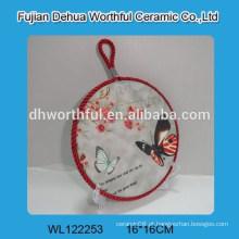 Popular titular pote de cerâmica com forma de borboleta
