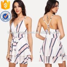 Cross Back Self Tie Cami Dress Manufacture Wholesale Fashion Women Apparel (TA3218D)