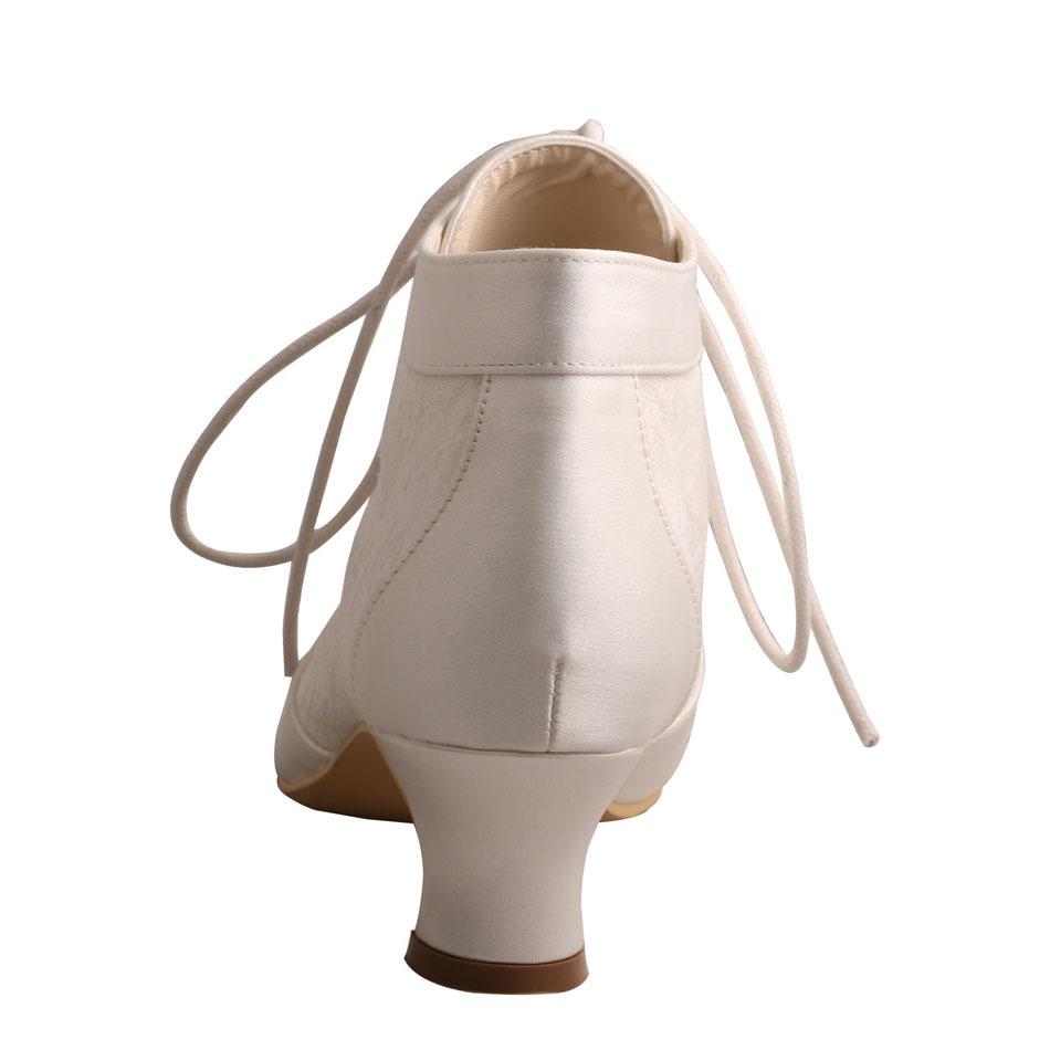 Chunky Heel Bridal Boot