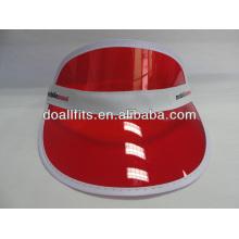Kundenspezifische Logo-Mode Sonnenblende Pvc Visier Cap