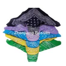Kundenspezifische Logo bedruckte Paisley Baumwolle UV Schutz Bandana Cap