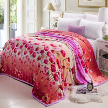 flower printed thick comforter bed cover with plastic bag pack