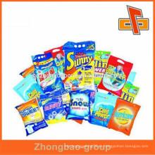 Made in china bolsa de sellado impresa personalizada bolsa de plástico biodegrad para productos de limpieza paquete