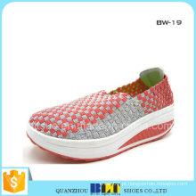 Senhoras de sapatos de tecido Casual plana