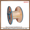 Large wooden wire spool factory