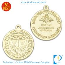Precio competitivo 3D Medalla de recuerdo de chapado en oro de lado en alta calidad