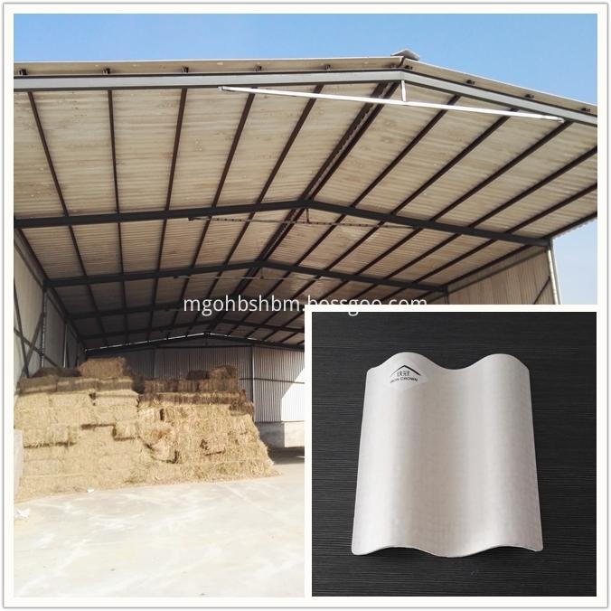 Fireproof Glazed MgO Roof Tiles