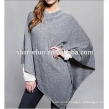 Wholesale chaud mode femmes 100% poncho en cachemire
