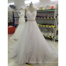 Бренд Aoliweiya новое свадебное платье с кружевом красивую спину