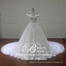 Оптовая китайский алибаба свадебное платье последнее от плеча бальное платье свадебное платье