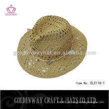 Chapéu de chapéu de cowboy popular de moda Chapéu artesanal de design simples