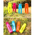Heiße verkaufende Glaswasser-Sport-Flasche mit Silikon-Hülse bewegliche Glasflasche