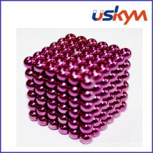 Revestimento rosa 216 Buckyballs brinquedo de bolas magnético (T-016)