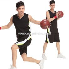 2017 melhor qualidade preço barato malha de basquete jersey para homens novo modelo jersey kit