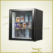 Refrigerador de porta de vidro comum para o hotel