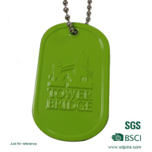 Custom Aluminum Dog Tag with Color Spray Finish