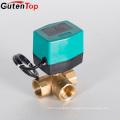 Gutentop High Quality Mini Motorized Ball Valve 5v/12v/24v Electric