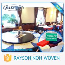 Venda direta da fábrica baixa não tecido de toalha de mesa de MOQ Guanggong