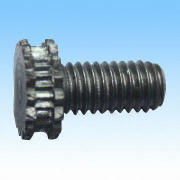 Special Screw, Made of Iron, Hammered, Turned, Knurled and Threaded, Used for Car Seat Parts