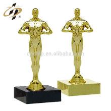 Fabrik-Förderung Kundenspezifisches preiswertes Goldoscar Metall trägt Preistrophäenschale mit keinem MOQ zur Schau
