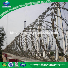 Hot sale China high security stainless steel barbed razor wire / razor barbed wire