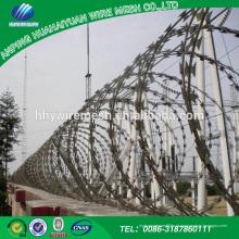 Venda quente China aço inoxidável de alta segurança farpado arame farpado / navalha de arame farpado