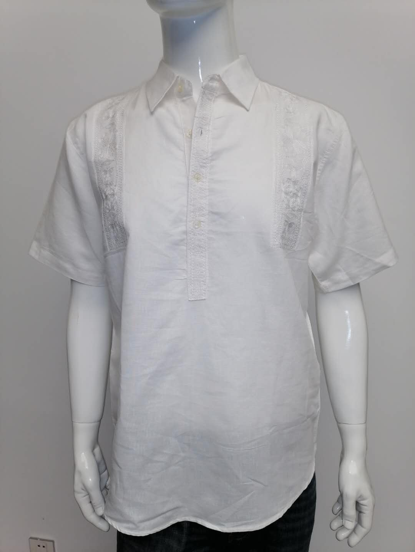 Mens ramie cotton shirt