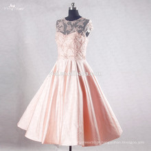 RSE734 Peach Beaded Sequin Crystal Embellishments For Short Prom Dresses