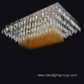 ceiling led square lighting chandelier for lobby