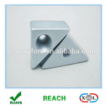 triangle strong neodymium magnet with screw hole