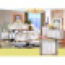 Mobiliário de quarto clássico conjunto com cama clássica e guarda-roupa (W801 #)