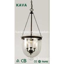 3 lights pendant lighting,clear glass pendant lighting