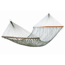 Uplion outdoor hammock net hammock cotton mesh leisure hammock with lashing