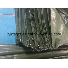 China Dark Green Plastic Tarpaulin Truck Cover