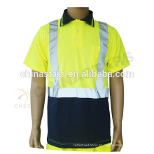 EN20471 / ANSI 100% poliéster segurança reflexiva T-shirt