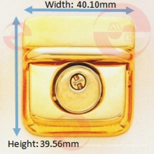 Shiny Gold Less Nickel Release Rectangle Snap Push Lock