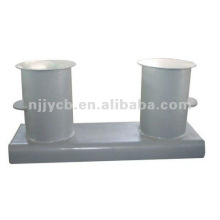 Steel pipe double bollards