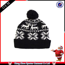 16FZCB07 knitted christmas beanie hat