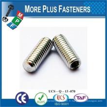 Fabriqué en Taiwan ISO 4026 ANSI B18 3 6M DIN 913 Tête de serrage Vis Point plat