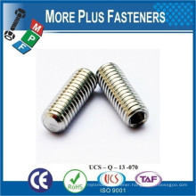 Made in Taiwan ISO 4026 ANSI B18 3 6M DIN 913 Socket Set Screw Flat Point