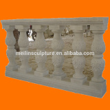 natural white marble machine carved indoor decorative columns