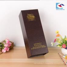 De bonne qualité boîte professionnelle de vin de papier de carton vide professionnel fait sur commande